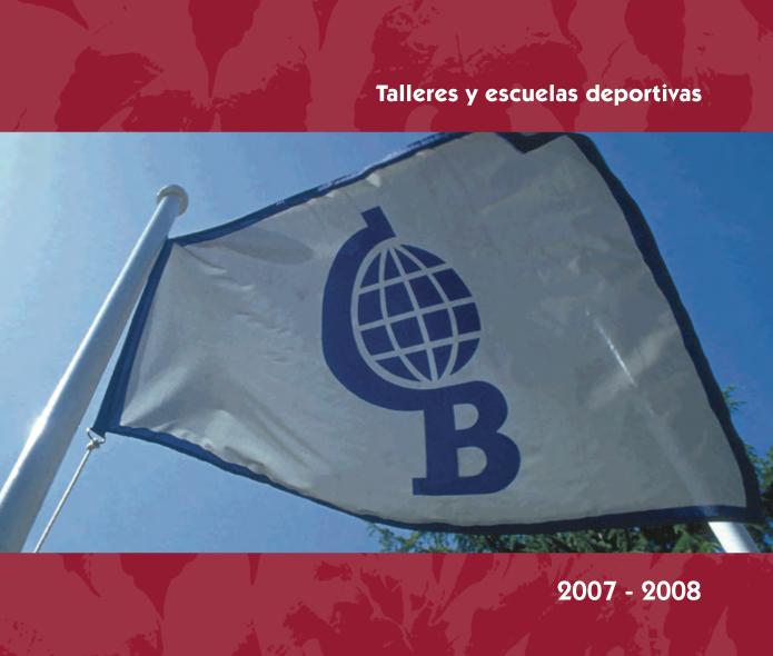 Pantallazo folleto Actividades Colegio Base