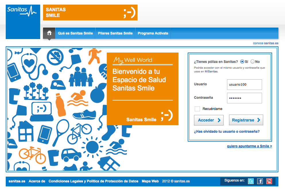 Smile registro Sanitas